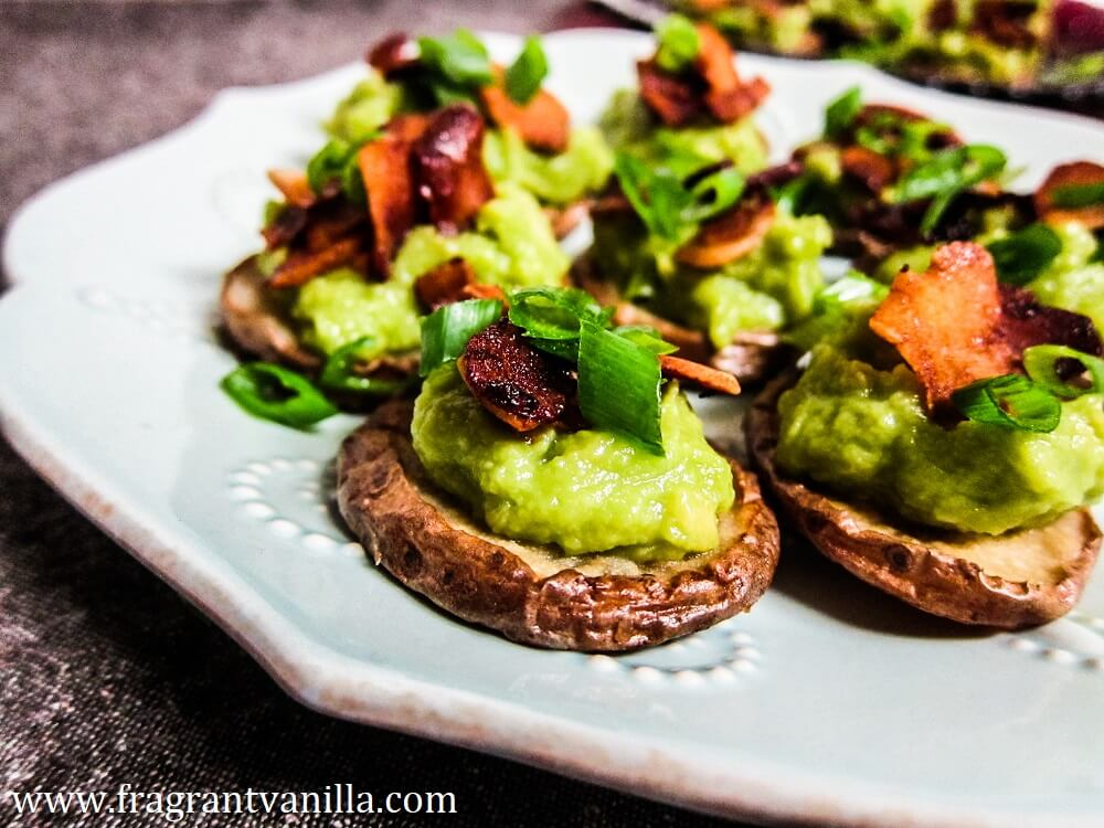 vegan party food favorites - loaded baked potato bites