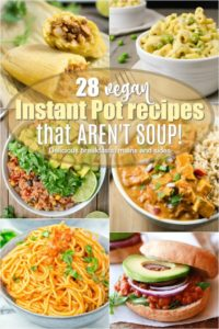 A collage of 6 vegan instant pot recipes.