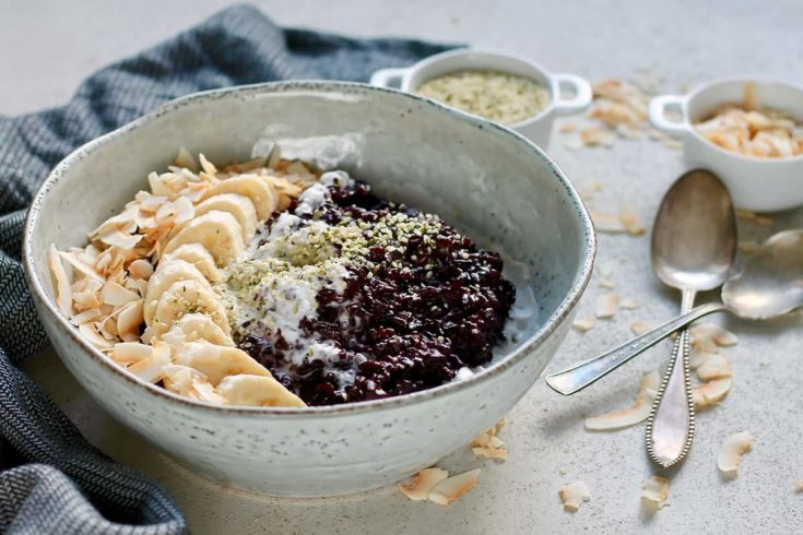 Indonesian Black Rice Pudding